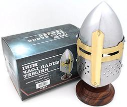 Medieval Warrior Brand 18 Gauge Steel Mini Display Helmet w/