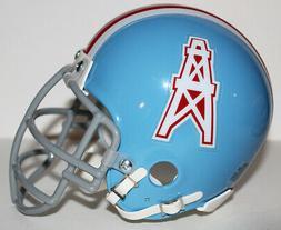 1972-74 Houston Oilers Riddell Custom Mini Helmet Metal Face