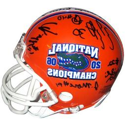 2006 Florida Gators Defense Autographed  Mini Helmet LE100-1