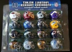 2010 NFL Pro Football Mini Helmet Standings Playoff Tracker