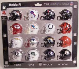 2018 AFC CONFERENCE POCKET PRO SPEED MINI HELMET SET 16 PIEC