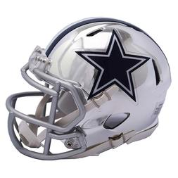 Dallas Cowboys Mini Helmet Riddell NFL Alternate Speed Chrom