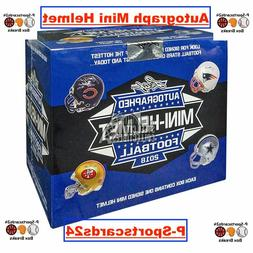 2018 NFL LEAF AUTOGRAPH FOOTBALL MINI HELMET BOX LIVE BREAK-