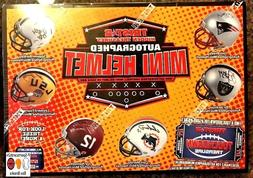 2018 NFL NCAA  TRISTAR AUTOGRAPH FOOTBALL MINI HELMET BOX LI