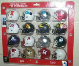 "2020 BIG 10 Conference NCAA Riddell Pocket Size Pro 2"" Repli"