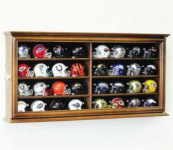 32 Pocket Pro Mini Helmet Display Case Cabinet Holders Rack