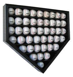 46 Baseball Display Case Wall Cabinet Holder Shadow Box, UV
