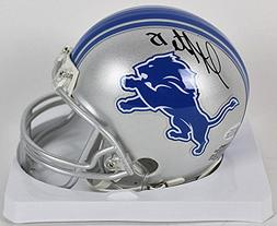 Autographed Golden Tate Signed Lions Mini-Helmet - Beckett C