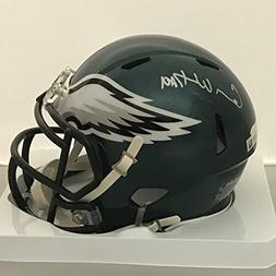 Autographed/Signed Carson Wentz Philadelphia Eagles Football