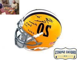 Billy Cannon Autographed/Signed LSU Tigers Schutt Mini Helme