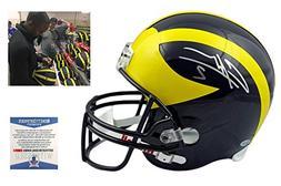 Charles Woodson Signed Michigan Full Size Replica Helmet - B