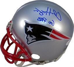 "Chris Hogan""Go Pats"" Autographed New England Patriots Mini H"