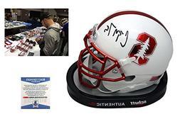 Christian McCaffrey Signed Stanford Cardinals Mini-Helmet -