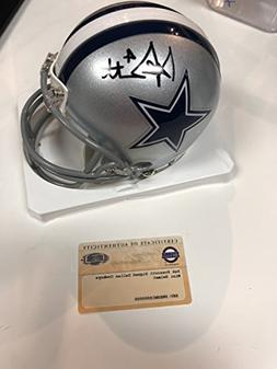 Dak Prescott Dallas Cowboys Signed Autograph Mini Helmet Ste