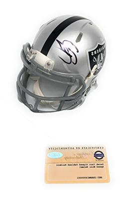 Derek Carr Oakland Raiders Signed Autograph Speed Mini Helme