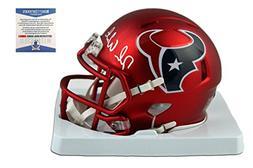 Deshaun Watson Autographed SIGNED Houston Texans Blaze Mini