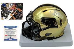 Drew Brees AUTOGRAPHED Signed Purdue Mini-Helmet - Beckett -