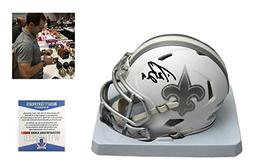 Drew Brees Signed New Orleans Saints ICE Mini-Helmet - Becke