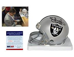 Howie Long Autographed SIGNED Oakland Raiders Mini Helmet -