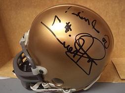 JOE THEISMANN NOTRE DAME SIGNED AUTOGRAPHED RIDDELL MINI HEL