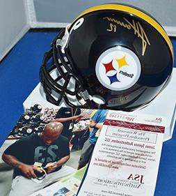 James Harrison Autographed Signed Custom Face Mask Mini Helm