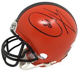 Jarvis Landry Signed Cleveland Browns Mini Helmet JSA