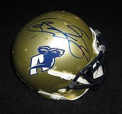 Jason Taylor Signed Akron Zips Mini Helmet - PSA/DNA Authent