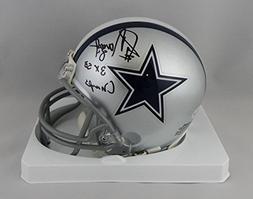 Jay Novacek Autographed Cowboys Mini Helmet w/ Insc- Beckett