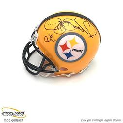 Jerome Bettis Signed Mini Helmet - 75th Anniversary - Autogr