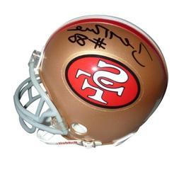 Jerry Rice Autographed San Francisco 49ers  Mini Helmet - Ri
