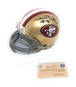 Jerry Rice San Francisco 49ers Signed Autograph Mini Helmet