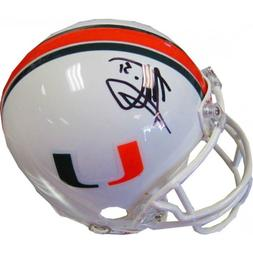 Jonathan Vilma Autographed University of Miami Hurricanes Mi