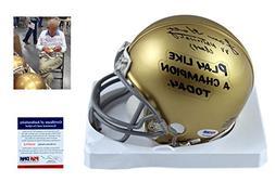 LOU HOLTZ Signed Notre Dame Mini-Helmet - PSA/DNA Autographe