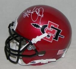 Marshall Faulk Signed Sdsu San Diego State Aztecs Mini Helme
