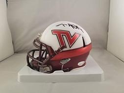 Michael Vick Autographed Signed Mini Helmet Virginia Tech Ho