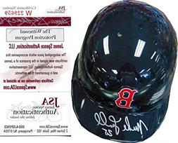 Mike Lowell Autographed Boston Red Sox Mini Helmet - Autogra