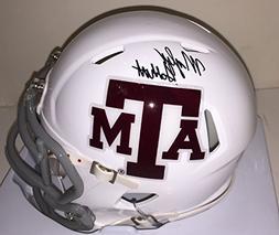 Myles Garrett Autographed Riddell SPEED Texas A&M Mini Helme