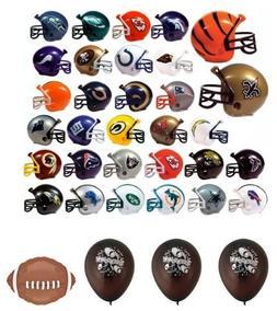 NFL Mini Helmet Pencil Toppers - Set of 32 Teams plus Balloo