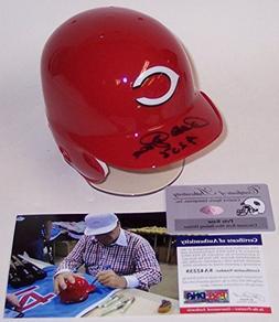 Pete Rose Autographed Hand Signed Cincinnati Reds Mini Baseb