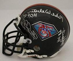 Pittsburgh Steelers Signed Auth 75 Anniversary Mini Helmet W