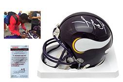 RANDY MOSS Signed Minnesota Vikings Mini-Helmet - JSA Witnes