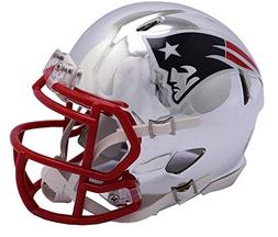 Riddell Chrome New England Patriots Speed Mini Football Helm