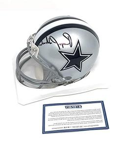 Roger Staubach Dallas Cowboys Signed Autograph Mini Helmet S