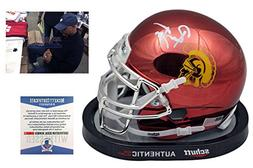 Ronnie Lott Autographed SIGNED USC Trojans Chrome Mini Helme