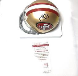 Ronnie Lott San Francisco 49ers Signed Autograph Mini Helmet