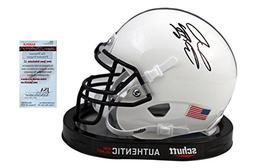 Saquon Barkley Autographed Penn State Mini Helmet - JSA Witn