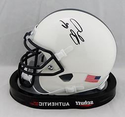 Saquon Barkley Autographed Penn State Schutt Mini Helmet- JS