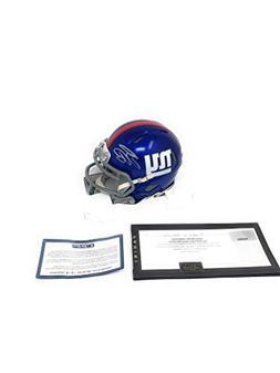 Saquon Barkley New York Giants Signed Autograph Speed Mini H