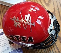 Signed Autograph San Diego State Marshall Faulk Mini Helmet