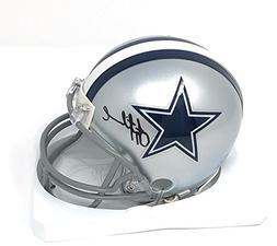 Troy Aikman Dallas Cowboys Signed Autograph Mini Helmet Aikm